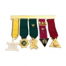 Allied Masonic Degree Set of 5 Jewels