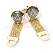 Semi Precious Masonic Cufflinks