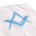 White 100 % Cotton Masonic Gloves