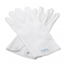 White 100% Cotton Gloves with Lodge Number