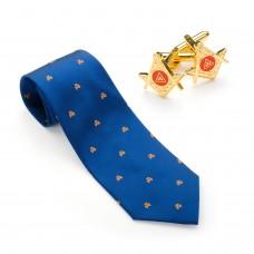 Royal Arch Silk Woven Tie & Matching Cufflinks