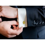 Masonic Gold Plated Oval Cufflinks with G