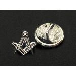Craft Sq & Compass 925 Solid Silver Masonic Badge
