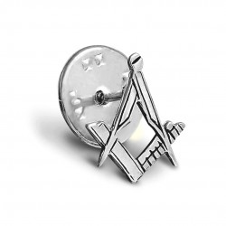 Craft Sq & Compass 925 Solid Silver Masonic Badge