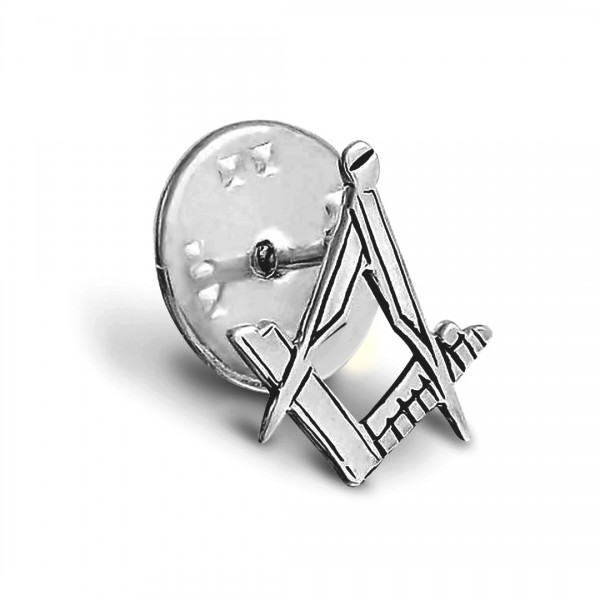 Craft Sq & Compass Silver Masonic Badge