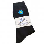 Mens Black Forget me Knot Masonic Socks