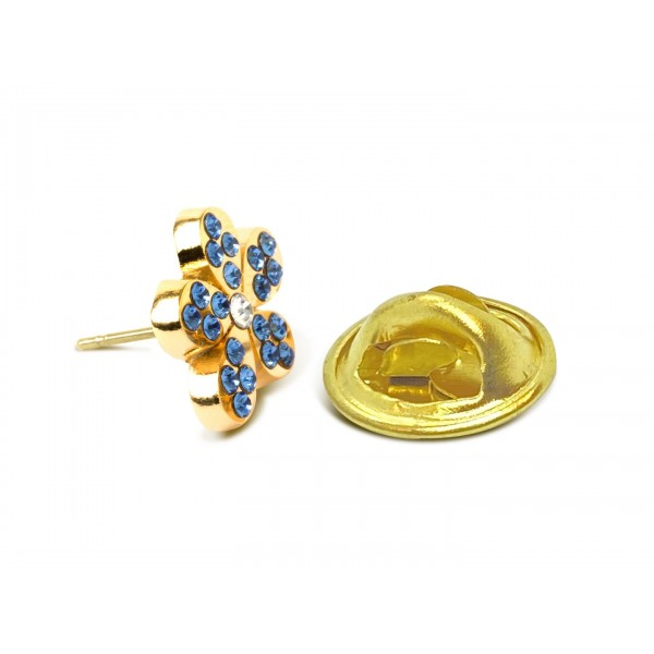 Forget me Knot Lapel Badge with Stones