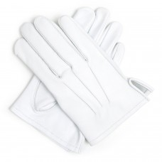 White 100% Soft Leather Gloves