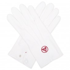 White 100 % Cotton Royal Arch Gloves