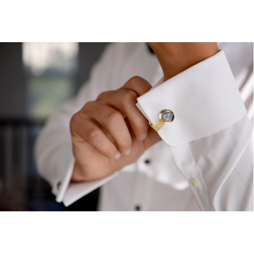 Masonic Onyx Cufflinks Dress Shirt Studs