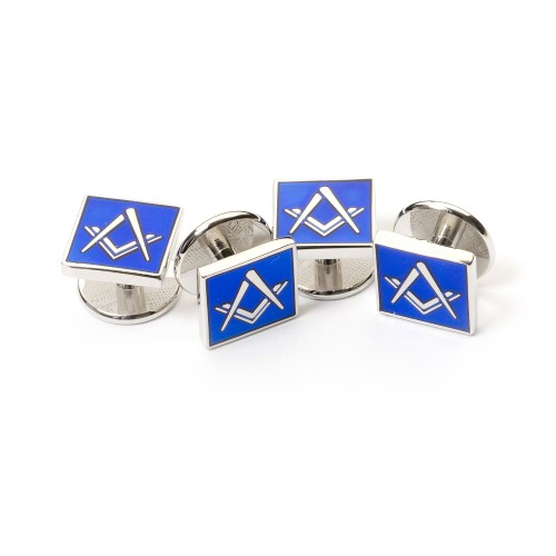 Masonic Blue Dress Shirt Studs