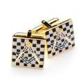 Pavement Design Masonic Cufflinks