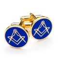 Blue & Gold Masonic Cufflinks