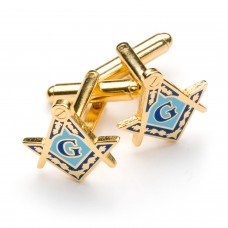 Masonic Square & Compass Cufflinks with G